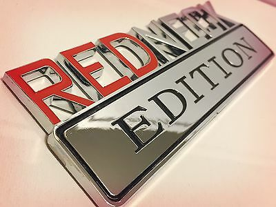 REDNECK EDITION car truck TOYOTA EMBLEM logo decal SUV SIGN chrome RED NECK 01