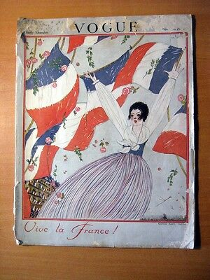 Vogue Magazine - 1917 - Vive la France ! UK British edition sold in France RARE