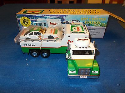 1997 Limited Edition Serialized Sinclair  Toy Race Car Carrier 2Nd In A Series
