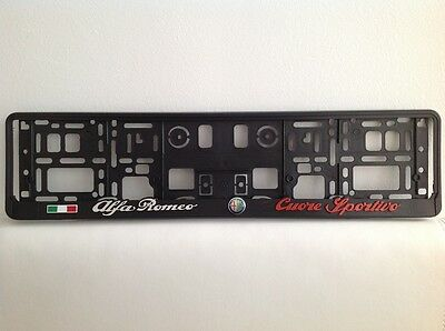 Alfa Romeo Coure Sportivo 2 x 3D License Number Plate Holder
