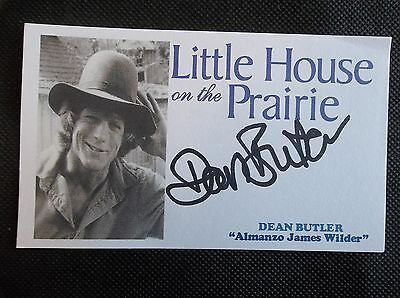 """""""Little House on the Prairie"""" Dean Butler Autographed 3x5 Index Card"""