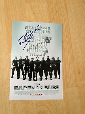 Dolph Lundgren original autograph (In Person) Rocky, Expendables, Skin Trade