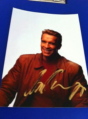 Arnold Schwarzenegger original autograph (In Person) Terminator, The Expendables
