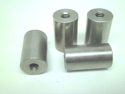 """4 New Ss Stainless Spacer Threaded 5/8 X 1"""" X 1/4-20 Pack Of 4 Rc"""