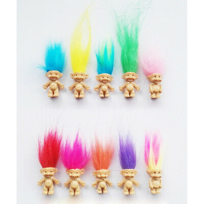5pcs/Set Lucky Troll Doll Leprechauns Minifigure Toy Cake Topper Decoration NICE