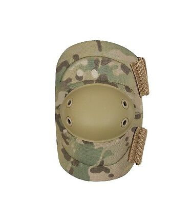 Multicam camouflage exterior elbow pad set two strap padded tactical OSFA pair