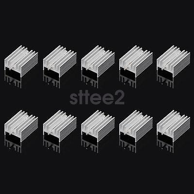 10pcs 21*15*10mm Aluminum Heatsink Radiator Heat Sink for TO-220 TO220 7805 7812