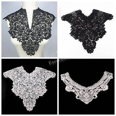 Embroidered Floral Neckline Lace Neck Collar Trim Blouse Clothes Sewing Applique