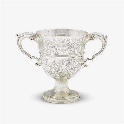 Irish Dublin Late 18th Century Sterling Silver Twin Handled Loving Cup