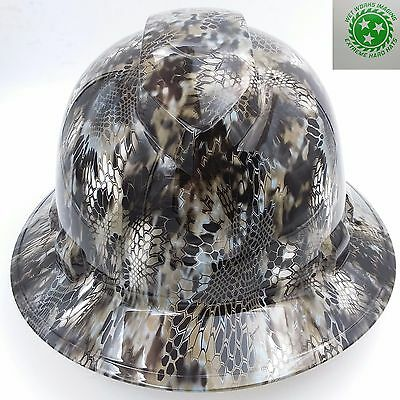 Hard Hat FULL BRIM custom hydro dipped , OSHA approved KRYPTEK NEPTUNE CAMO NEW