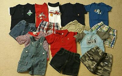 Baby Boy Size 0-3 Months Mixed Summer Clothing Lot