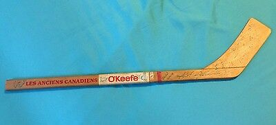 Claude Provost d.84 SIGNED X16 HOCKEY STICK MONTREAL CANADIENS + Mosdell,Richard