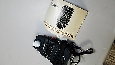 Minolta Flash Meter II 2 with owners manual fast usa shipping