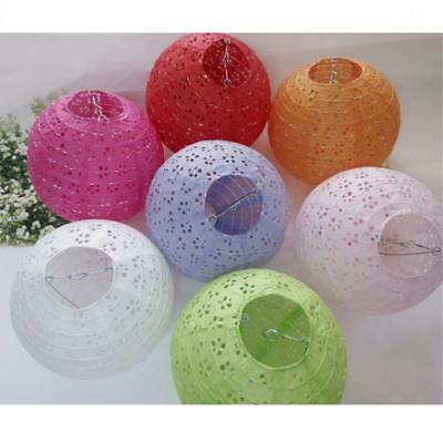 12/ 8inch Flower Hollow Paper Hanging Lanterns Wedding Party Home Hanging Decor