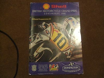 1990 Official Programme FIM Shell British Motorcycle GP Programme Donington