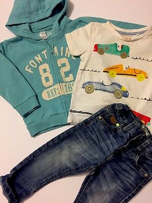 Baby Boys Bundle Hoodie Jumper T-shirt And Jeans NEXT Age 12-18 Months