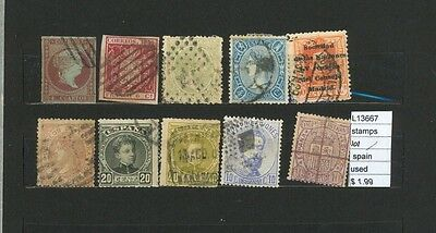 Stamps Lot Spain   Used  (L13667)