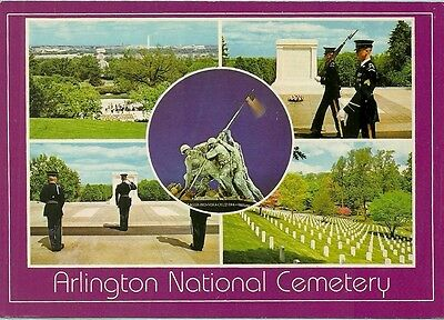 Arlington National Cemetery, Multi-View, Chrome, Unposted, Arlington, Va