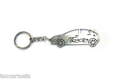 Keychain for Ford Fiesta 2008-2013 MK7 Stainless Steel Car Body Design With Ring