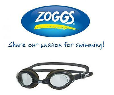 Zoggs Bondi Swimming Goggles Silicone Swim Antifog Soft Seal Pool Training Black