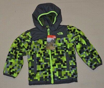 The North Face Toddler Boys Reversible True Or False Jacket Safety Green 3T New