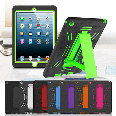 iPad 2 3 4 / Air / Mini 1 2 3 Shockproof Armour Heavy Duty Case Cover for Apple