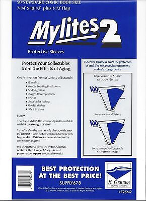 1000 Factory Sealed Mylites2 Standard (= Silver Mylar) FREE PRIORITY MAIL