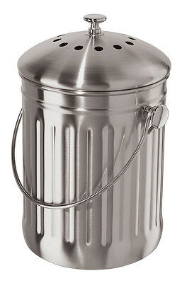 Oggi Counter-Top Composter Stainless Steel with Charcoal Filter 7320