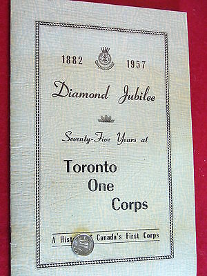 Original Canadian - Early Salvation Army Diamond Jubilee Book/Photo 1882/1957
