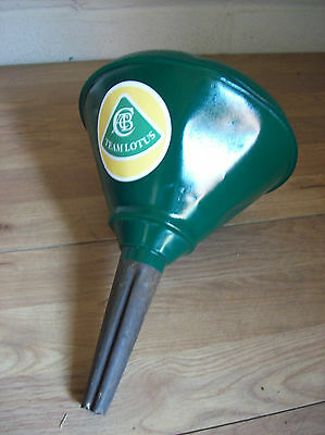 Vintage Oil Filler Funnel Retro Green Team Lotus Garage Museum Workshop