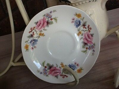 Vintage Crown Trent Staffordshire English Bone China Saucer Replacement SpareVGC