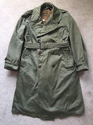 Rare Korean War U.S. Army Cold Weather Overcoat with Belt and Liner 1951