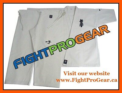 Kyokushin Karate Ichigeki Japan Uniform Gi White Heavy Duty 14 Oz Dogi Pro