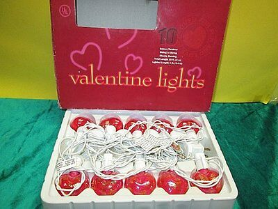 10 Pearlized Valentine's Day Heart Lights Indoor/Outdoor String Lights Decor