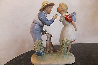 """Norman Rockwell (Gorham) 4 Seasons for 1949 """"Beguiling Buttercup"""" 6 1/2"""" Tall"""