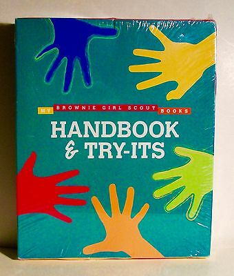 New Sealed Brownie Girl Scout Handbook & Try-Its