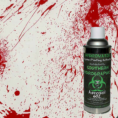 Hydrographic Film Water Transfer Hydro Dip 6Oz Activator With Blood Splatter Kit