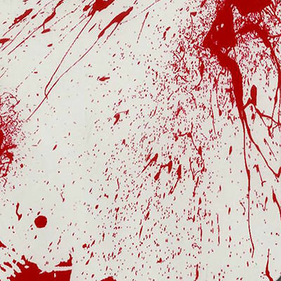 Hydrographic Water Transfer Hydrodipping Film Hydro Dip Blood Splatter