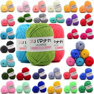 NEW 42 colors Soft Cotton Bamboo Crochet Knitting Yarn Baby Knit Wool Yarn HOT