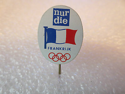 Vintage Team France Olympic Games Pin Badge, Olympics Sporting Memorabilia