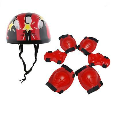 Kids Safety Protective Gear Helmet Knee/Elbow/Wrist Pads Set for Skating Cycling