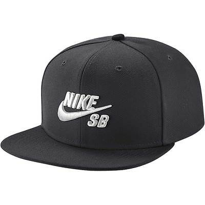 NIKE SB Cap Icon Pro Black White Snapback New Skateboard Hat