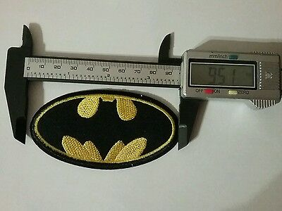 Perfect + Size DIY Batman Embroidered Patch Applique Badge Iron on Sew