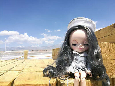 """12""""Neo Blythe Doll  Joint Body Grey Hair Matte Face Nude Doll from Factory CA"""