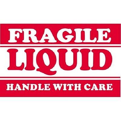 Labels  Fragile Liquid Handle With Care Shipping Labels 2000 Ct - New!
