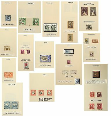 ERRORS COLLECTION Worldwide Stamps Postage Inverted Shifted Faded 48 PAGES