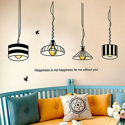 DIY Lamps Removable Wall Sticker Vinyl Decal Kids Nursery Home Art Decor