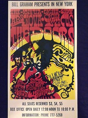 THE DOORS FILLMORE CONCERT POSTER - 2nd pressing - limited to 1,000 - Mint Cond.