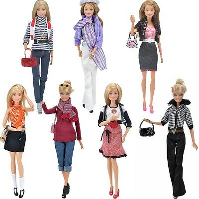Doll Clothes Casual Wear Dating Dress OL Outfit Accessories for Barbie Dolls K