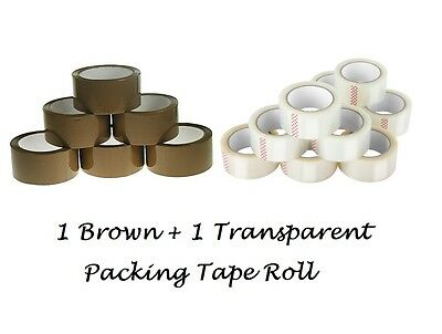 Brown & Transparent Packing Parcel Carton Packaging Tape 48Mm X 66M